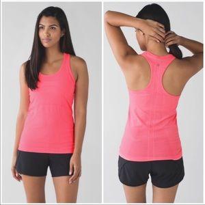 Lululemon Swiftly Tank Top Heathered Neon Pink 8